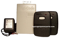 5102-2 Digi Code Universal Garage Door Opener Reciver w/2 Remote Controls